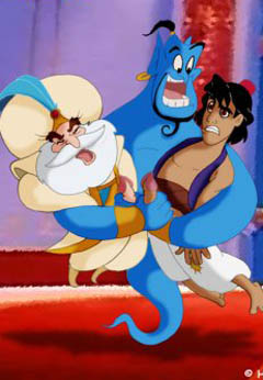 Aladdin, Genie and the Sultan gay sex