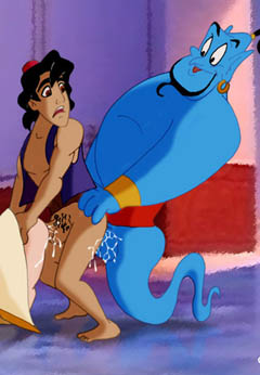 Aladdin in homosexual orgy
