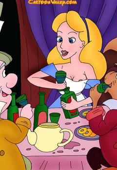 Alice in Wonderland Adult Cartoons