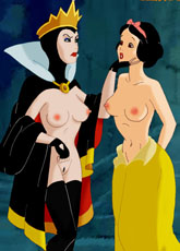 Sexy Snow White and Queen