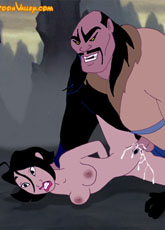 Tied up Mulan fucked