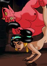 Jasmine fucked by Evil Genie