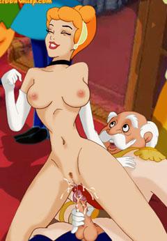 Cinderella rides cock