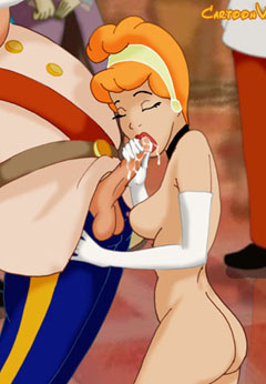 Cinderella blowjobs huge cock
