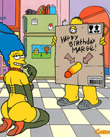 Homer gives Marge a hot gift