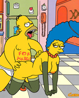 Homer fucks naugty Marge from behind