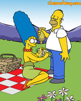 Marge and Homer outdoor sex fun