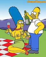 Marge tastes a cock-sandwich
