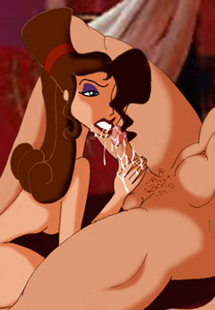 Meg sucking Hercules's cock