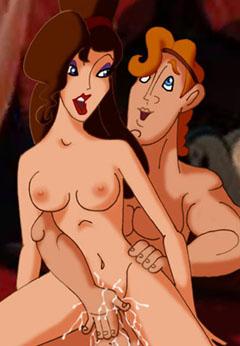 Naked Meg Rides Hercules
