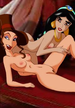 Sexy lesbians Jasmine and Meg