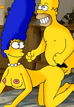 Homer fucks naked Marge