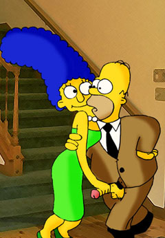 Horny Marge and Homer Simpsons
