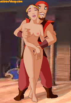 Horny Sinbad and naked Marina