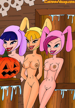 Naked Winx Girls in rabbits suite