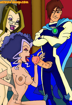 Winx Witches sucking cock