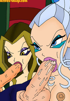 Winx Witches sucking huge cocks